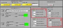 Приборная панель программы тестирования ПЛИС на возд. ОЯЧ с прим. лаз. источника в среде LabView